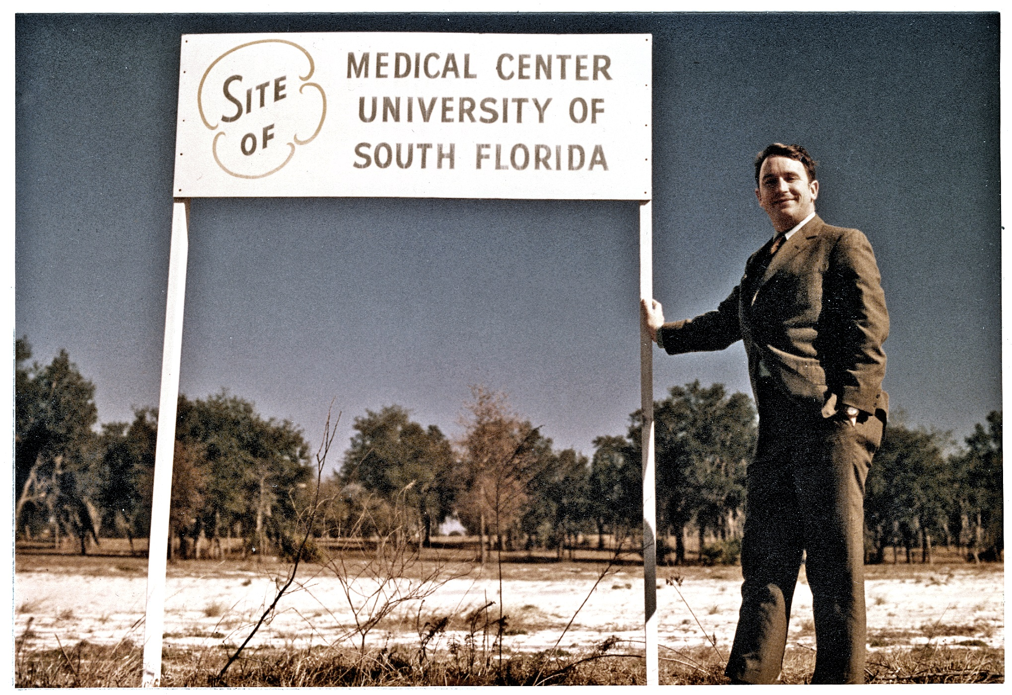 Walter Afield, MD Groundbreaking of USF Medical School - 1970